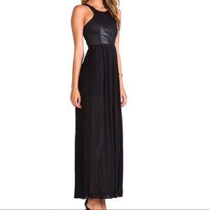 Blaque Label Dresses - Leather detail tank maxi dress by Blaque Label